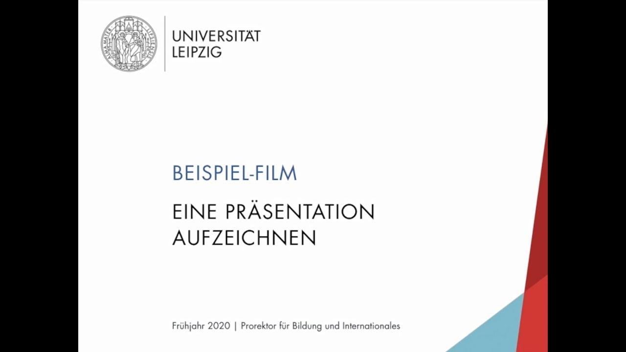 Beispielfilm: Eine Präsentation aufzeichnen
