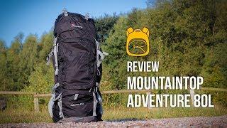 Mountaintop Adventure 80 Liter - Review auf Deutsch - Rucksack Test