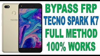 New Bypass Google Account TECNO K7 SPARK (Frp Lock) Android