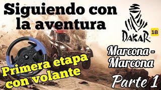 Dakar 18 - Marcona-Marcona   Primera etapa con volante y en primera persona - Actualización 1.02