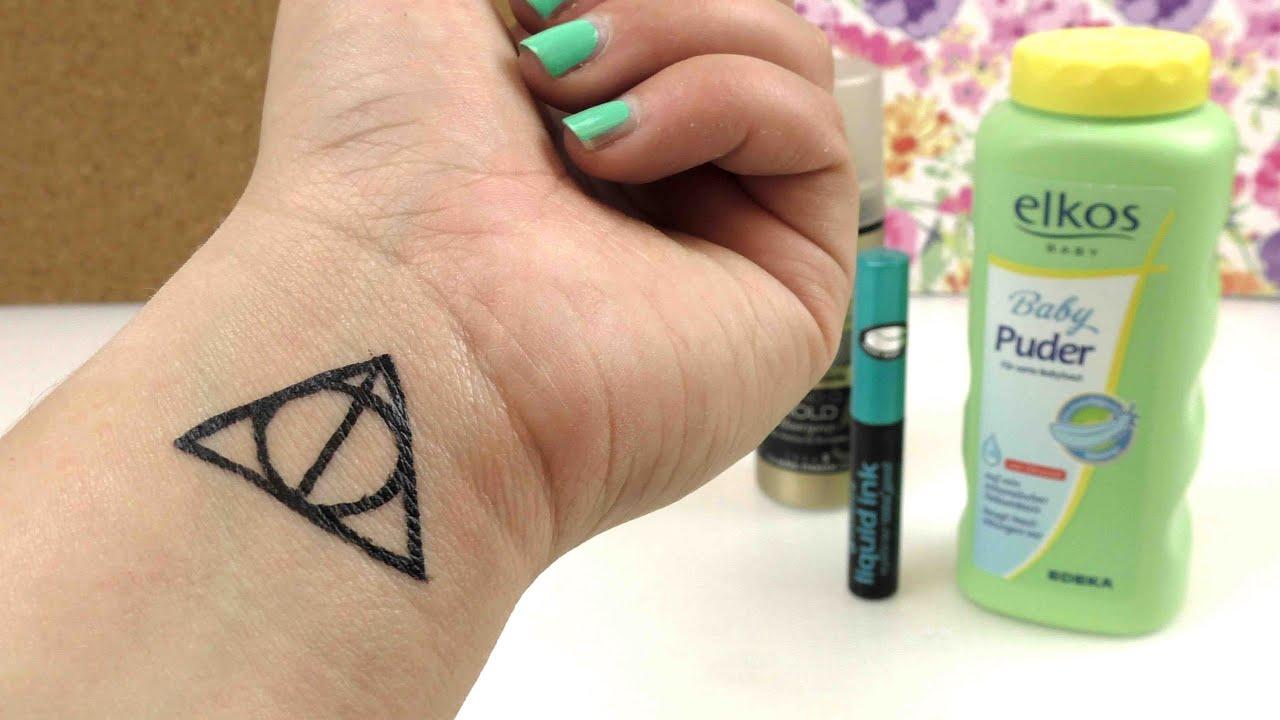 Harry Potter Karte Des Rumtreibers Tattoo.Diy Tattoo Harry Potter Heiligtumer Des Todes Symbol