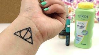 DIY Tattoo Harry Potter Heiligtümer Des Todes Symbol- Temporäres Tattoo Einfach Selber Machen