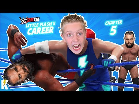Smackdown LIVE Battle Royal! Rise of Little Flash in WWE 2k19 Part 5 | KIDCITY GAMING