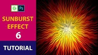 How To Make Sunburst Effects In Photoshop Cs6 Part-6 [Hindi]