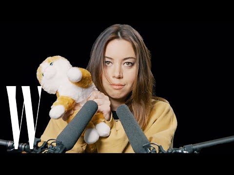 Aubrey Plaza Explores ASMR with Whispers, Peacock Feathers, and Cornflakes | W Magazine