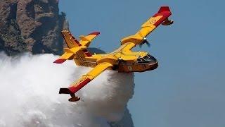 Мегамашины - Противопожарный самолёт Bombardier CL-415