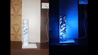How To Make PVC Pipe Lamp | For Living Room | Table Lamp