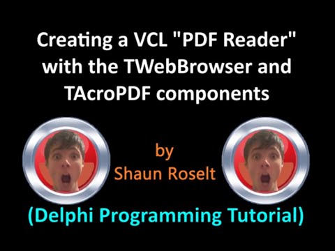 "Creating a VCL ""PDF Reader"" (Delphi Programming Tutorial)"