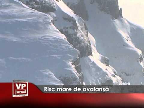 Risc mare de avalanşă