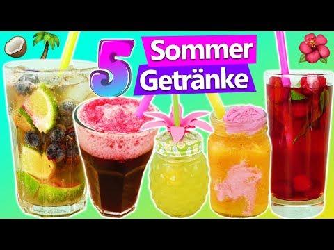 5 leckere Sommergetränke zum selber machen (ohne Alkohol) Icetea Smoothie Limonade Cocktail Slushy