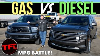 Diesel vs Gas Tow Off: The Legendary Chevy Suburban Takes on the Toyota Sequoia! by The Fast Lane Truck