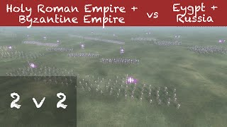Medieval 2 Total War Online Battle # 80 (2v2) - turn off the fog machine!