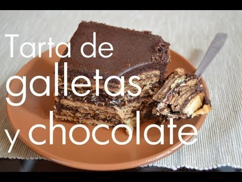 Tarta de chocolate y galletas