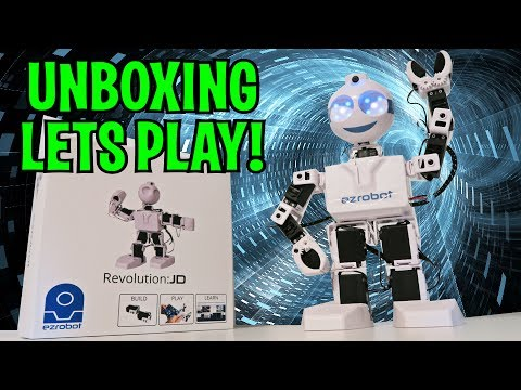 UNBOXING & LETS PLAY - JD ROBOT - Intelligent Humanoid - Sings, Dances, Learns, More! FULL REVIEW!