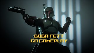 Boba Fett shows off his new look on Crait - Star Wars Battlefront 2 PC Gameplay