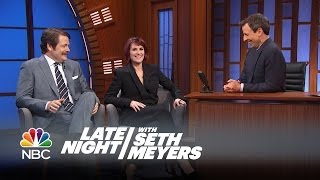 Nick Offerman and Megan Mullally Interview, Pt. 1 - Late Night with Seth Meyers