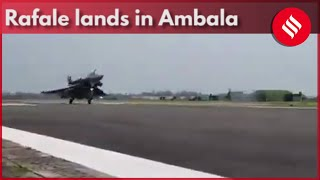 First Batch Of Rafale Fighter Jets Lands In Ambala Air Base