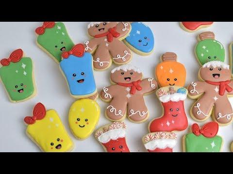 How To Decorate KAWAII CHRISTMAS COOKIES by HANIELA'S