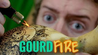 Gourd Pyrography & Tekchic Woodburner Review