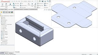 SolidWorks Sheet metal Exercise Base flange, miter flange, Hem and Edge Flange