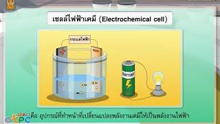 สื่อการเรียนการสอน แหล่งกำเนิดไฟฟ้ากระแส ตอน กระแสไฟฟ้าจากเซลล์ไฟฟ้าเคมี ม.3 วิทยาศาสตร์