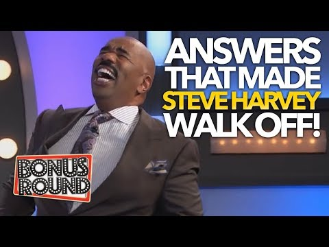 FUNNY Family Feud Answers That Made STEVE HARVEY Walk Off! Bonus Round