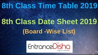 8th class board examination date sheet 2019 - Kênh video
