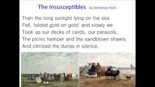 The Insusceptibles by Adrienne Rich