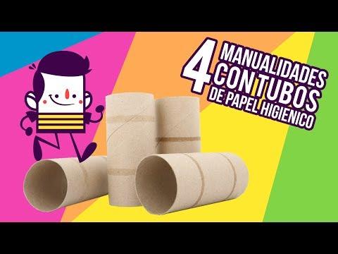 Adornos Navideños Con Tubos De Papel Higiénico Para Niños 3