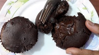 Choco Lava Cup Cake [ only 3 Ingredients ]