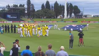 Icc Under 19 Cricket Final- Indian National Anthem. India Vs Australia at Baypark , Nz