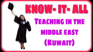How did I land a teaching job in the Middle East/ Kuwait