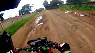 preview picture of video 'XR250 Quick Test Ride after accident/Rebuild'