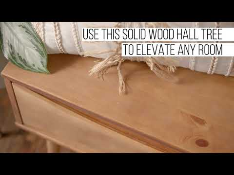Video for Atticus Caramel Hall Tree with Drawer