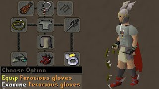 Ferocious Gloves PKing in Max (New)