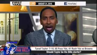 ESPN First Take   Should Tyrod Taylor Be the Bills Starter