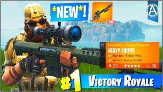 "NEW ""HEAVY SNIPER"" Gameplay UPDATE! (Fortnite Battle Royale ""Weapon UPDATE"")"