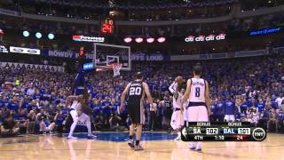 San Antonio - Dallas 108 - 109: Final Minutes And Vince Carter Buzzerbeater   Playoffs 2014   Game 3