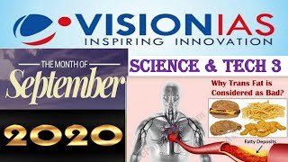 Vision Ias -September 2020 Science & Technology Part 3 Current affairs:UPSC/STATE_PSC