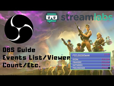 How to Show Stream Activity with the Streamlabs Event List