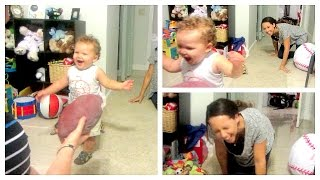 OUR SON CAN WALK! Day 103(4/11/15)