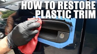 Restore And Fix Faded Plastic Trim On Your Car