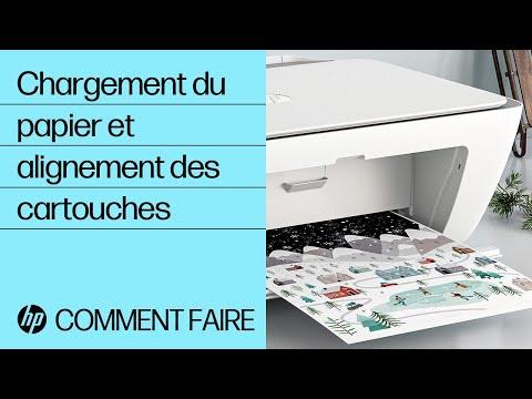 Comment charger du papier et aligner les cartouches des imprimantes des gammes HP DeskJet 2700 et DeskJet Plus 4100