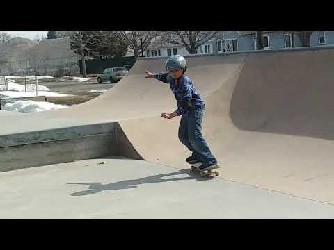 Minnesota winter's over skateboarding at Front Skate park