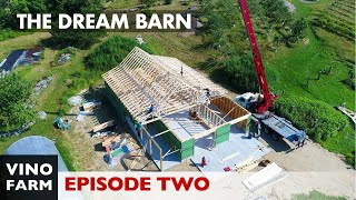 Dream Barn (Part 2) Walkthough! Framing, Attic Trusses, Zip System, Electrical Trench