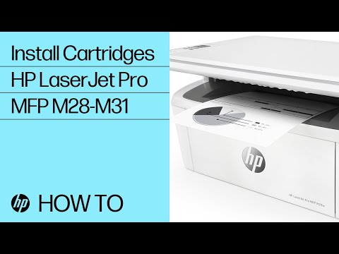 How to Install Cartridges in HP LaserJet Pro MFP M28-M31 Printers