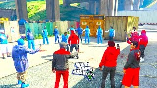 GTA 5 ONLINE -  BLOODS VS CRIPS 1V1 WHO WILL WIN