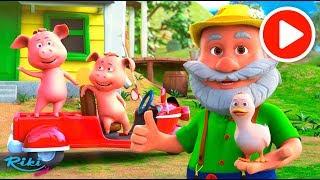 Песенка про животных на ферме | Old MacDonald Had A Farm | 3D мультик для детей на русском