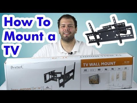 How To Mount a Flat Screen TV to the Wall - Easy Installation
