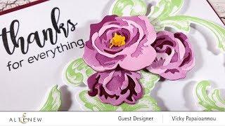 Altenew Guest | Layering Die Cut Flowers